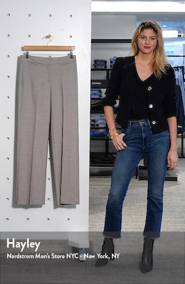 Houndstooth Check Wide Leg Trousers, sales video thumbnail