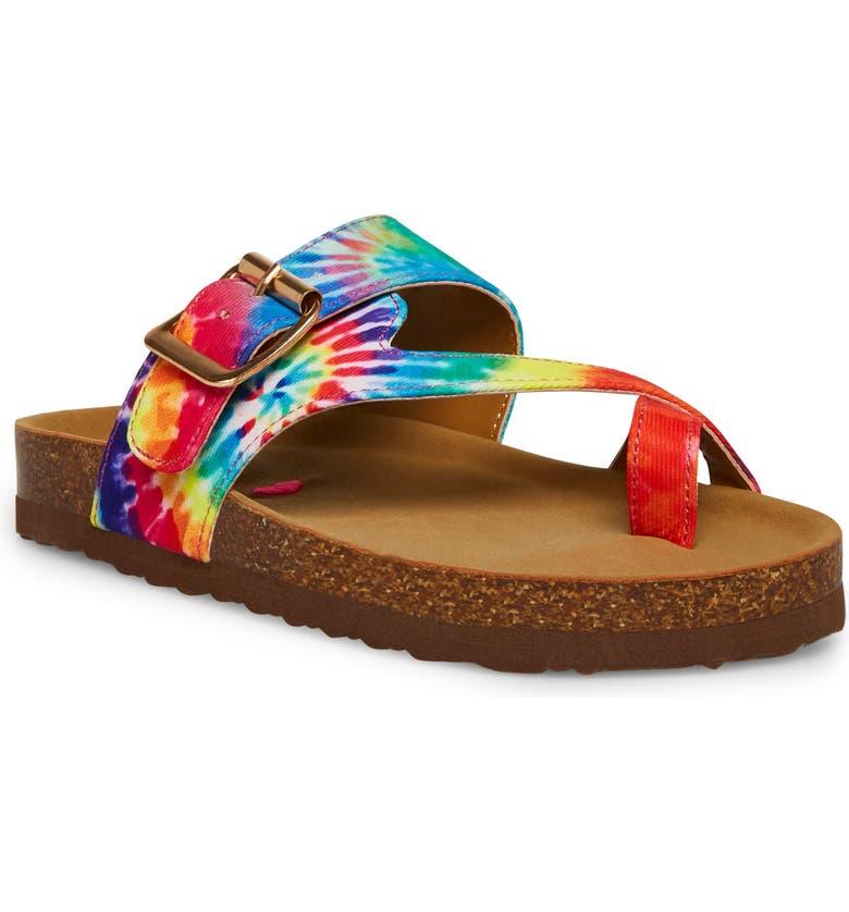 STEVE MADDEN JWaive Sandal, Main, color, TIE DYE