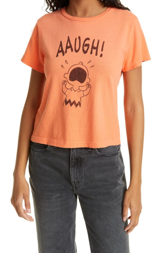Re/done Cottons X PEANUTS AAUGH CLASSIC GRAPHIC TEE