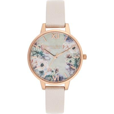Olivia Burton Leather Strap Watch,
