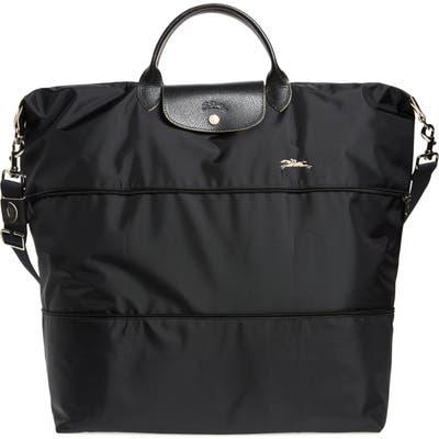 Longchamp Le Pliage 21-Inch Expandable Nylon Travel Bag - Black