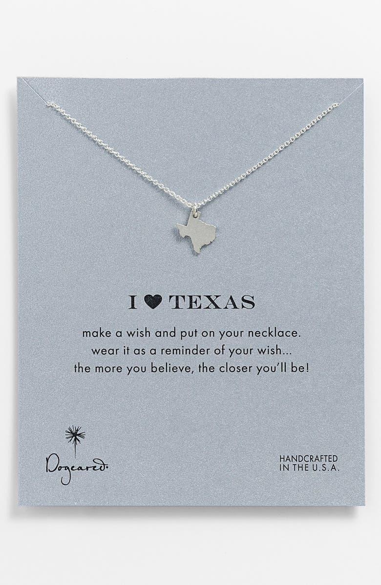 DOGEARED 'Reminder - I Heart Texas' Pendant Necklace, Main, color, 040