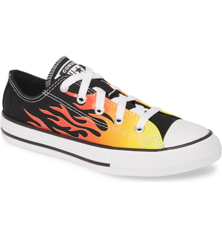 CONVERSE Chuck Taylor<sup>®</sup> All Star<sup>®</sup> Archive Low Top Sneaker, Main, color, BLACK/ ENAMEL RED/ YELLOW