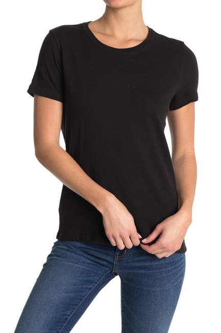 Image of Billy Reid Solid Linen Fitted Knit T-Shirt
