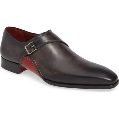 Magnanni Carrera Monk Strap Shoe- Grey