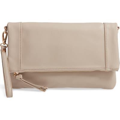 Sole Society Marlena Faux Leather Clutch. crossbody Bag - Grey