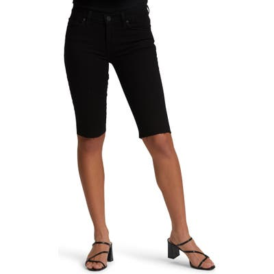Hudson Jeans Amelia Cutoff Knee Shorts, Black
