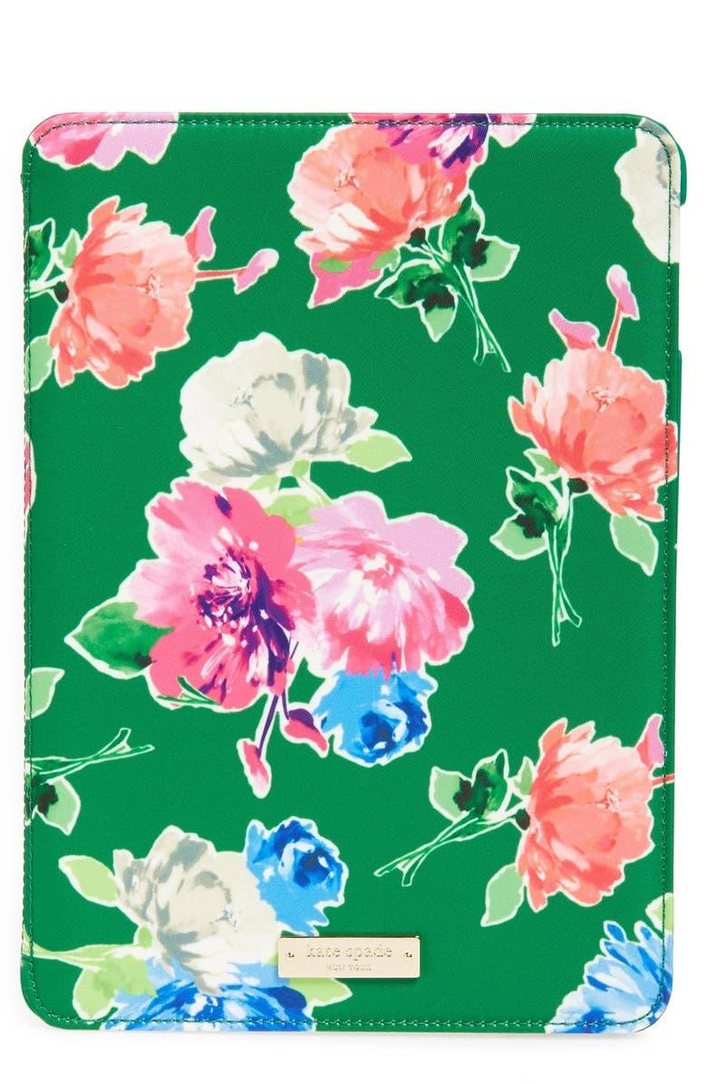 KATE SPADE NEW YORK 'spring blooms' iPad Air hardcase folio, Main, color, 300