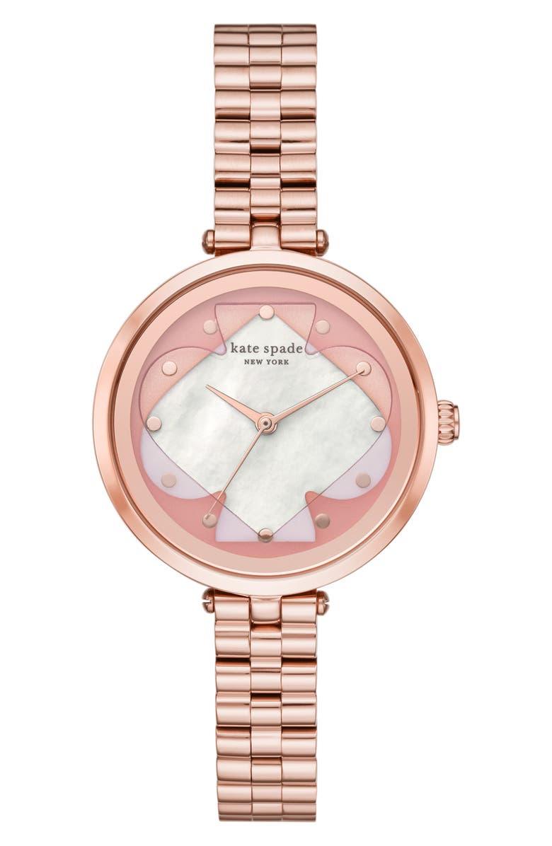 KATE SPADE NEW YORK holland bracelet watch, 34mm, Main, color, 710