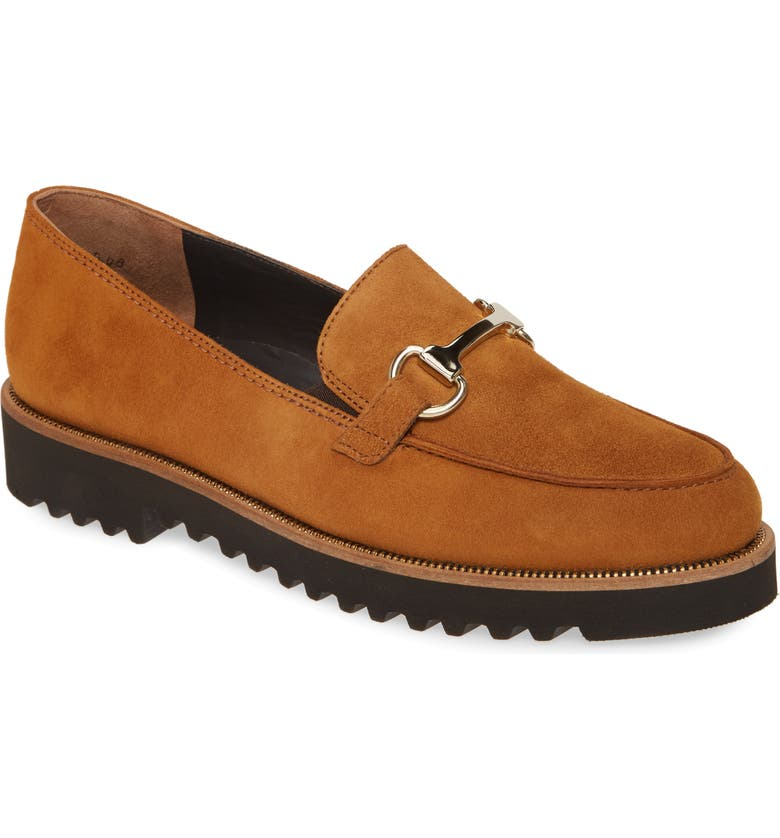 PAUL GREEN Topper Loafer, Main, color, CARAMEL SUEDE