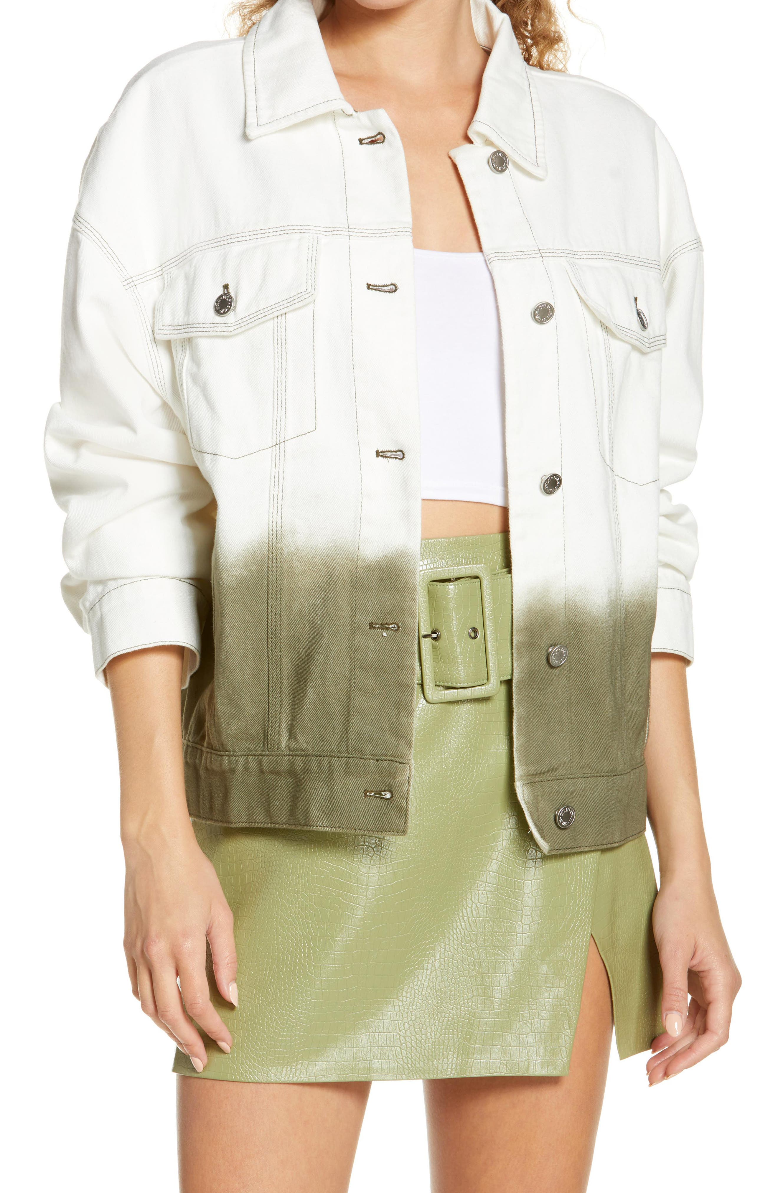 Women's By. dyln Tyler Ombre Denim Jacket