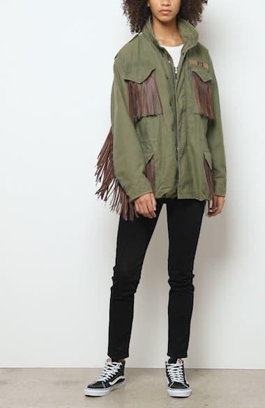 Leather Fringe Repurposed M65 Jacket, video thumbnail