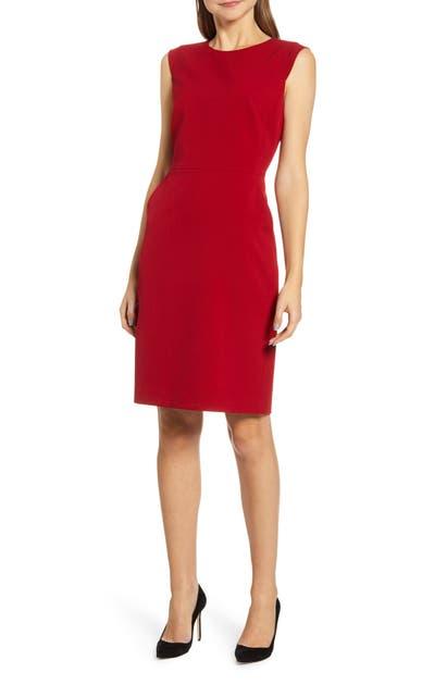 Anne Klein Dresses SABRE STRETCH CAP SLEEVE SHEATH DRESS