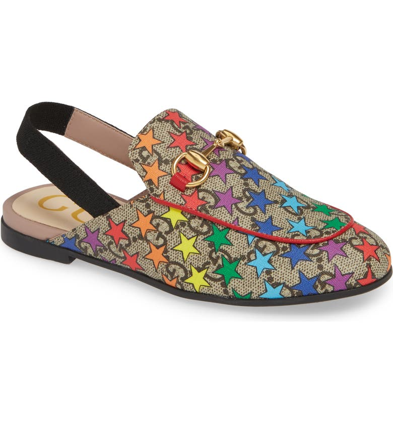 GUCCI Princetown GG Rainbow Star Loafer Mule, Main, color, 623