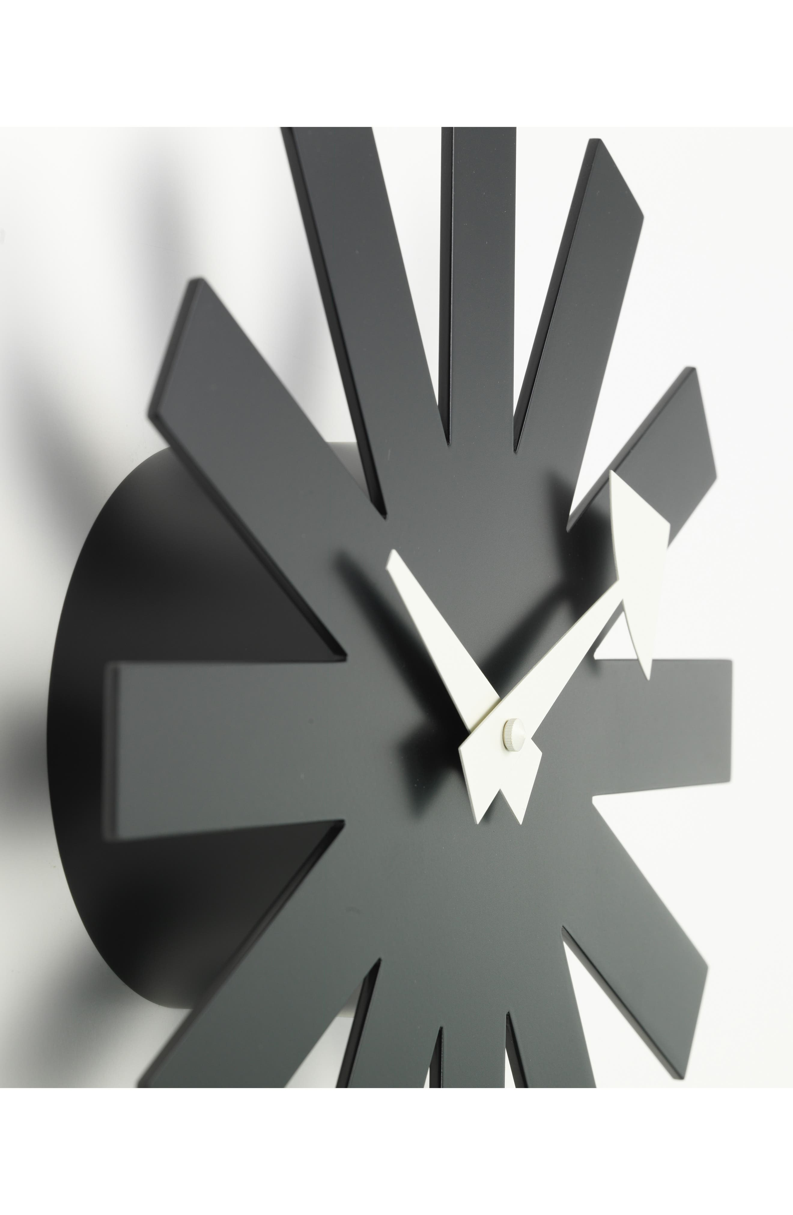 ,                             Asterisk Clock,                             Alternate thumbnail 3, color,                             BLACK