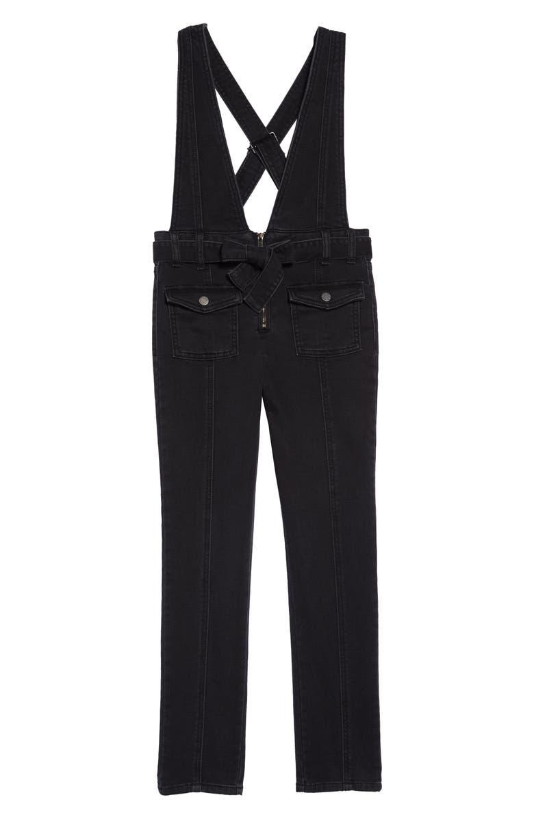 HABITUAL Ava Skinny Denim Jumpsuit, Main, color, 001