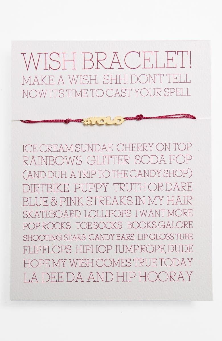 100% Gumdrop 'YOLO Wish' Bracelet (Girls) | Nordstrom