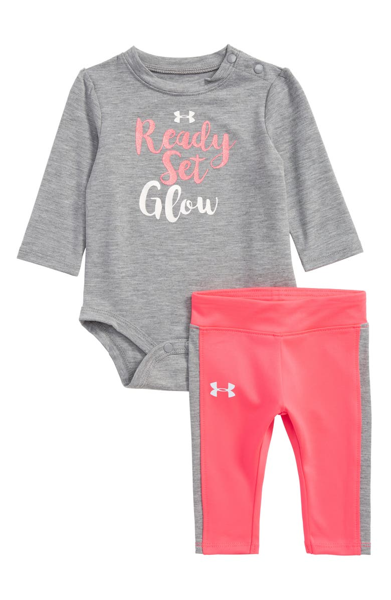 ee929c9cb46c1a Under Armour Ready Set Glow Bodysuit & Leggings Set (Baby Girls ...