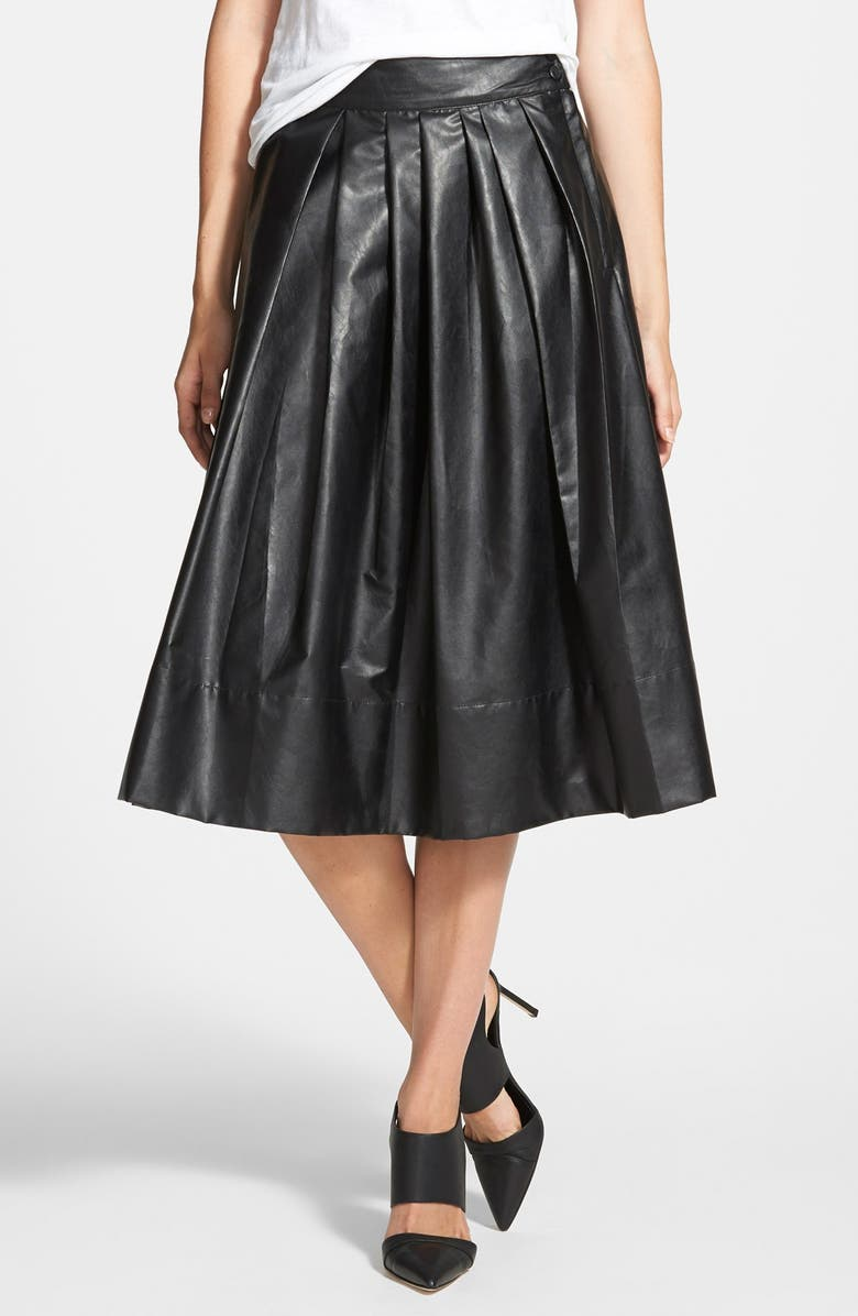 LEITH 'Town' Pleated Skirt, Main, color, 001