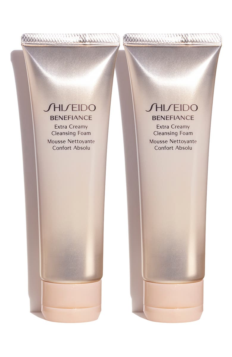 SHISEIDO Full Size Benefiance Extra Creamy Cleansing Foam Duo, Main, color, NO COLOR