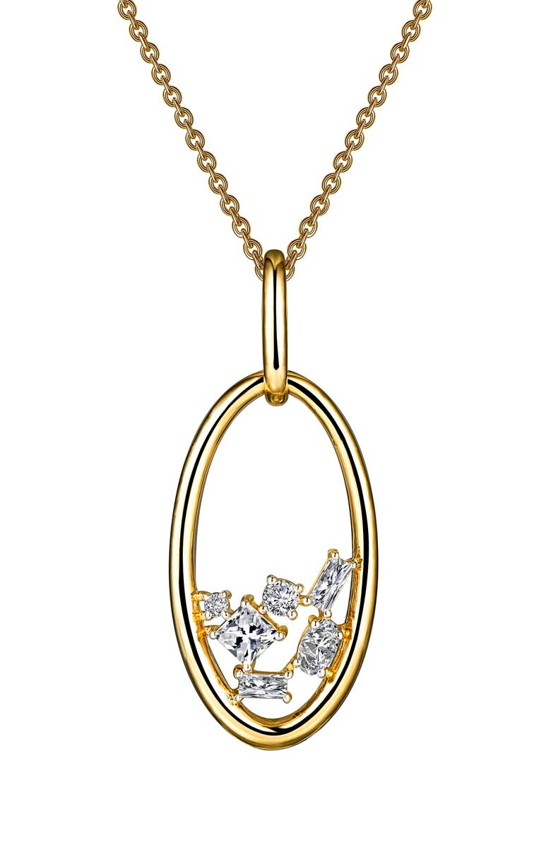 LAFONN Open Oval Pendant Necklace, Main, color, 710