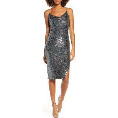Bardot Sequin Slip Dress, Metallic