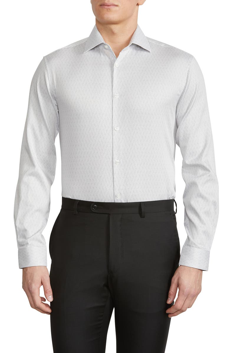 JOHN VARVATOS STAR USA Slim Fit Stretch Dress Shirt, Main, color, WHITE