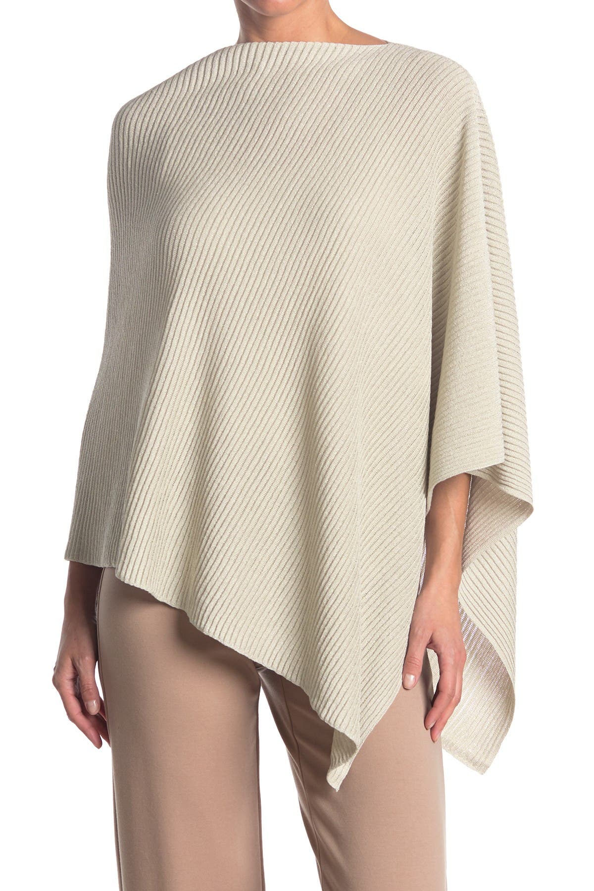 Image of Eileen Fisher Fine Organic Linen Crepe Sparkle Poncho