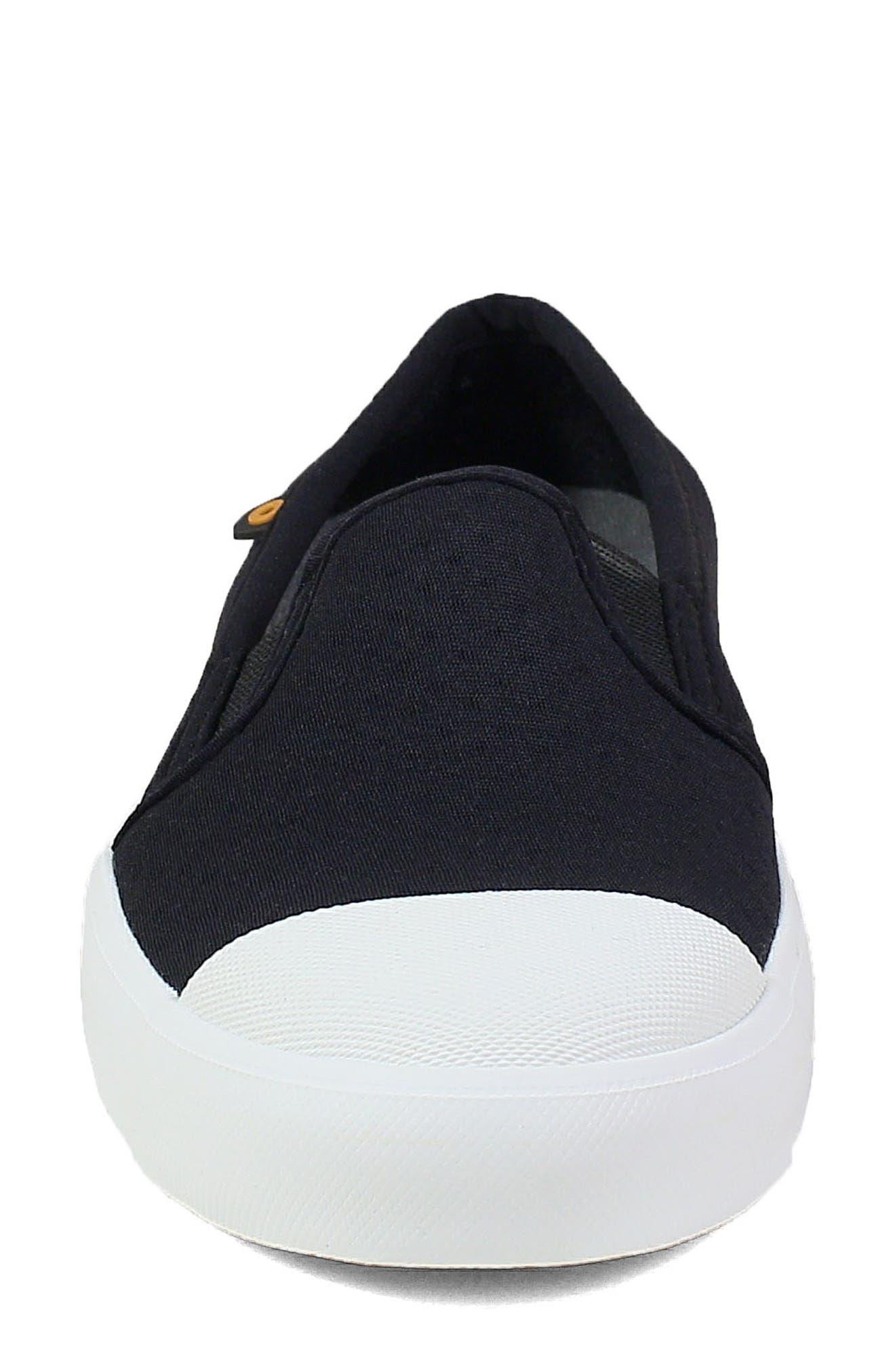 ,                             Kicker Slip-On Sneaker,                             Alternate thumbnail 4, color,                             BLACK CANVAS