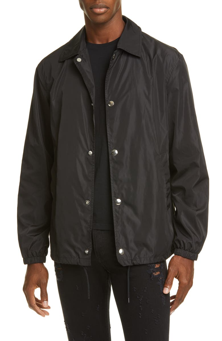 GIVENCHY Coach's Jacket, Main, color, BLACK
