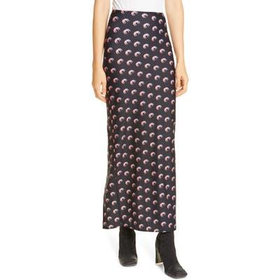 Marine Serre Moon Print Jersey Midi Tube Skirt, Black