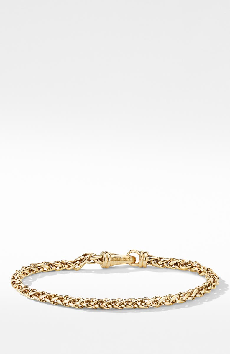 David Yurman Wheat Chain Bracelet In 18K Yellow Gold