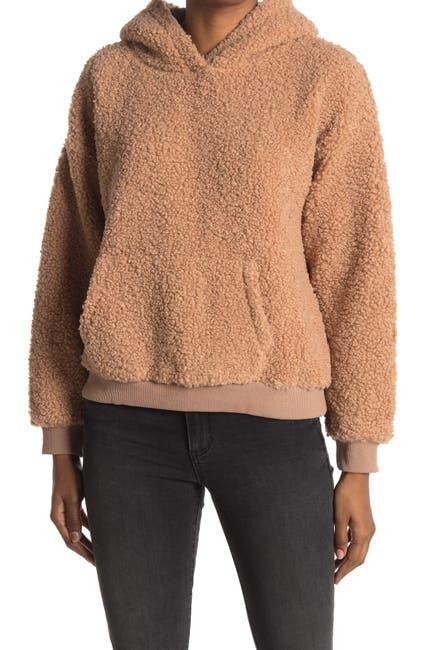Image of Lush Teddy Hooded Sweater With Kangaroo Pocket