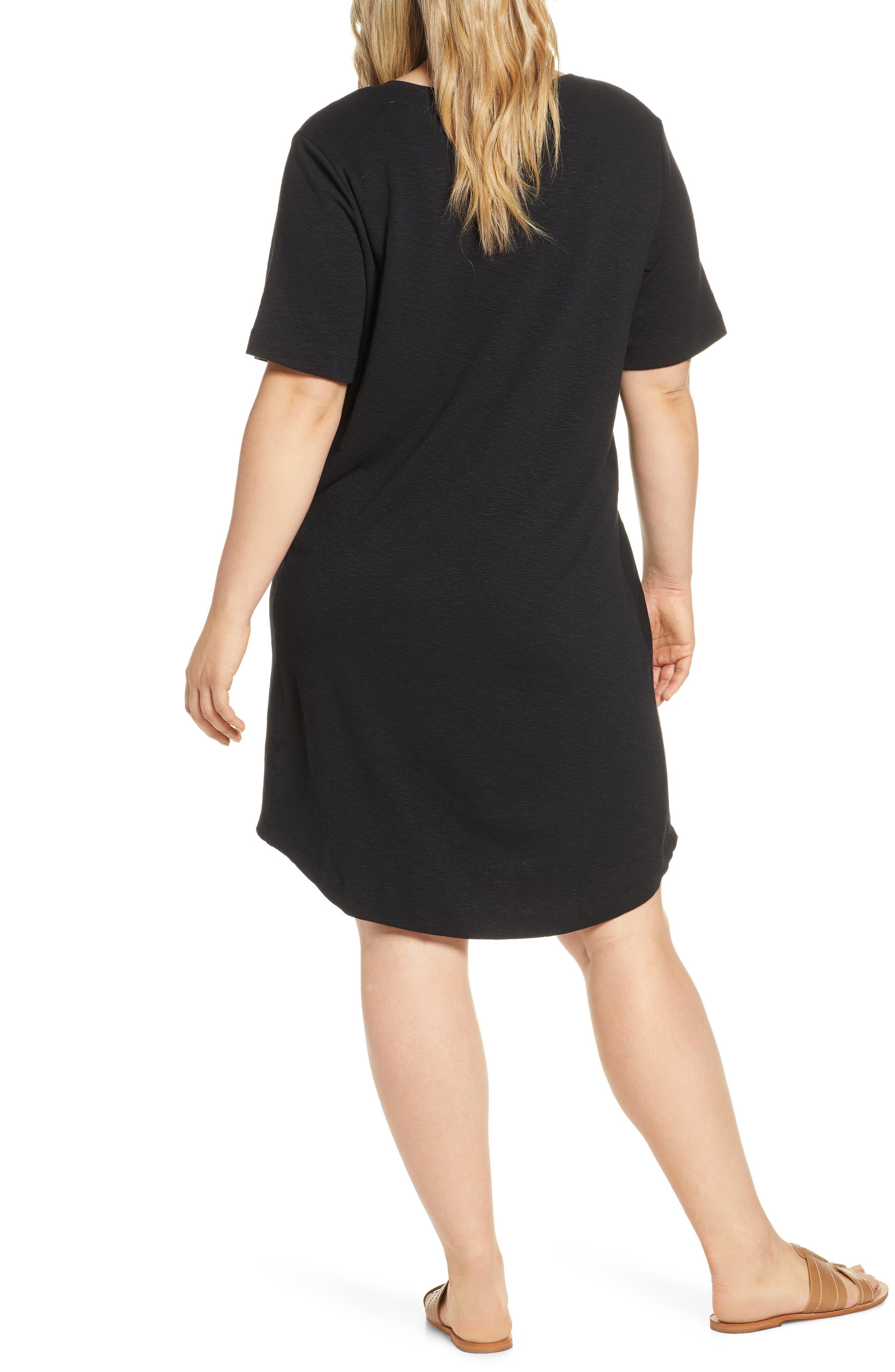 ,                             Slub Knit Dress,                             Alternate thumbnail 5, color,                             001