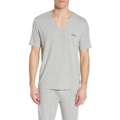 Boss Regular Fit V-Neck T-Shirt, Grey