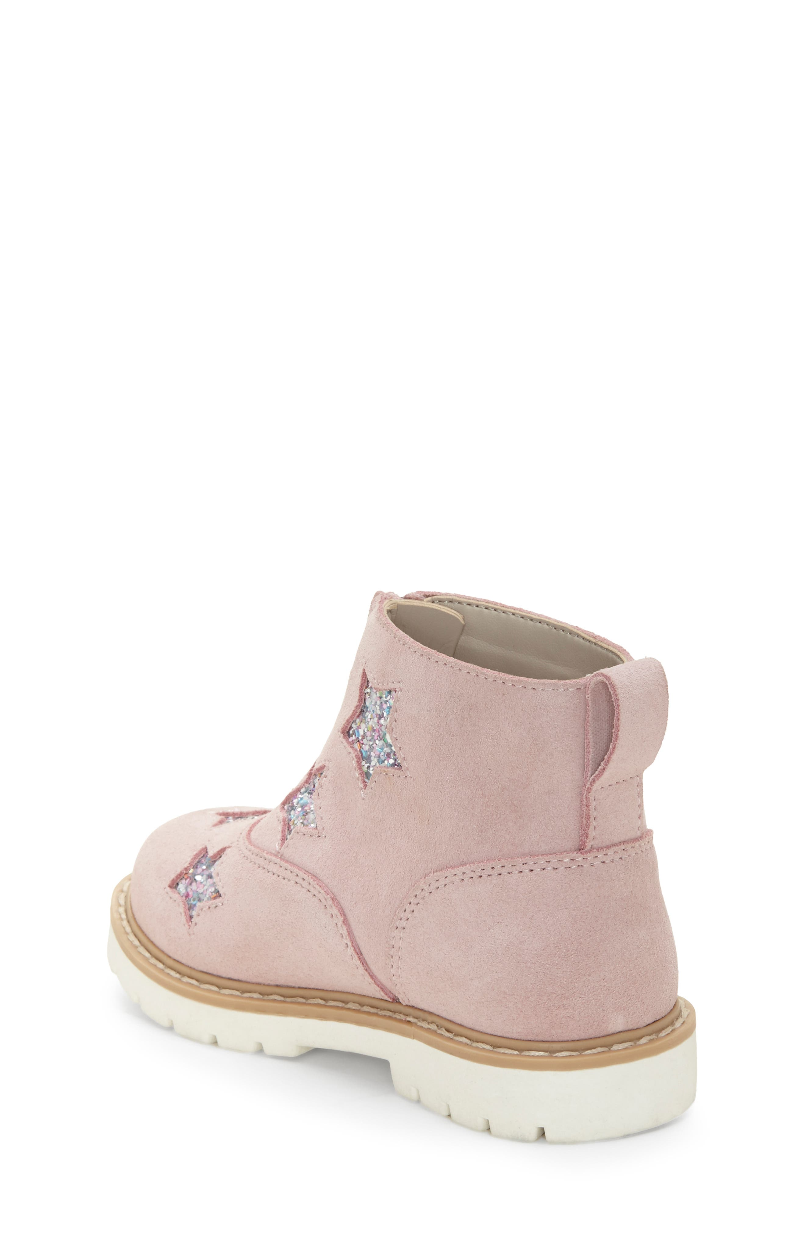 ,                             Aisha Glittery Front Zip Bootie,                             Alternate thumbnail 2, color,                             FAIRY PINK/ SILVER