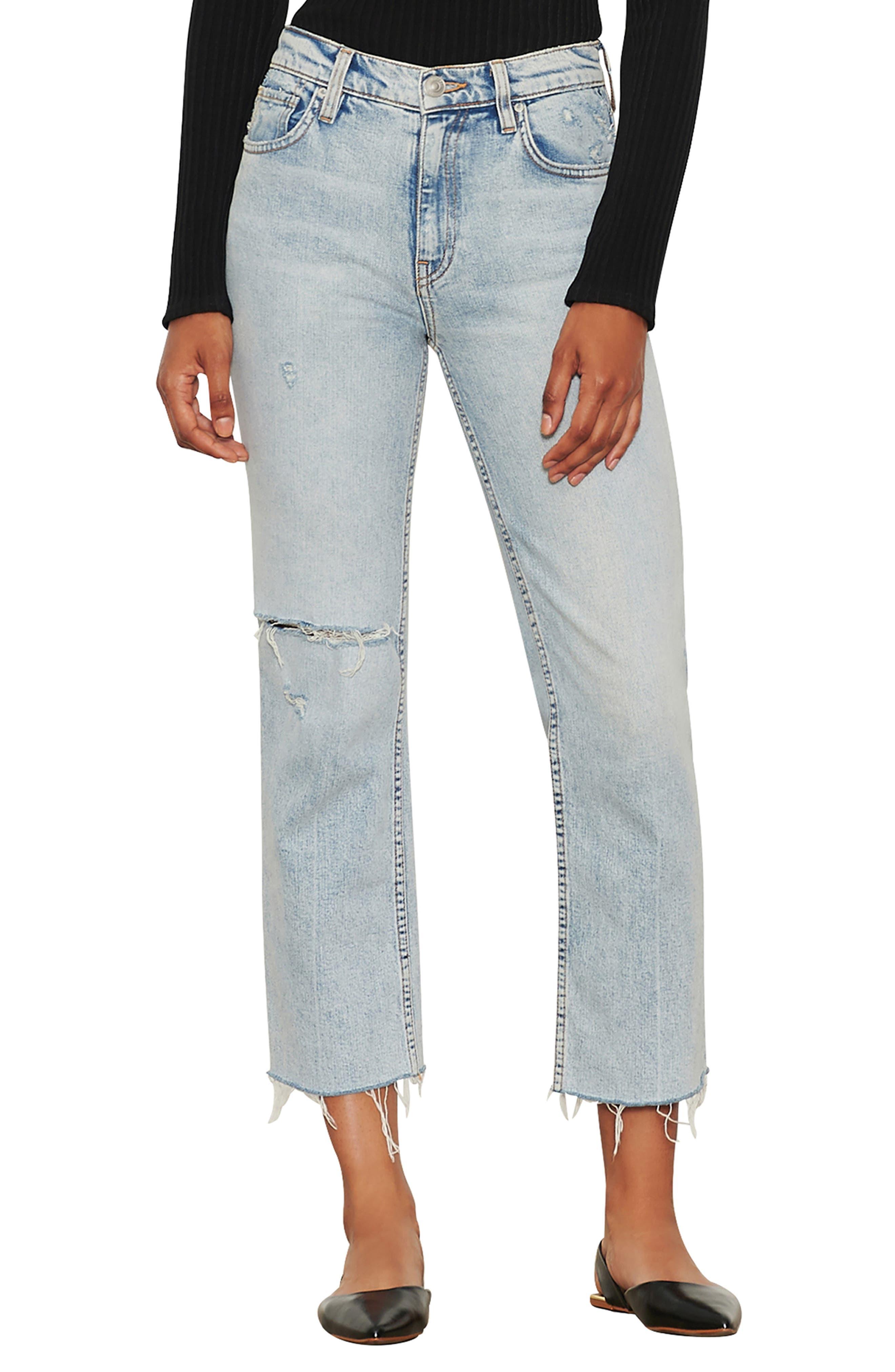 Remi High Waist Crop Straight Leg Jeans