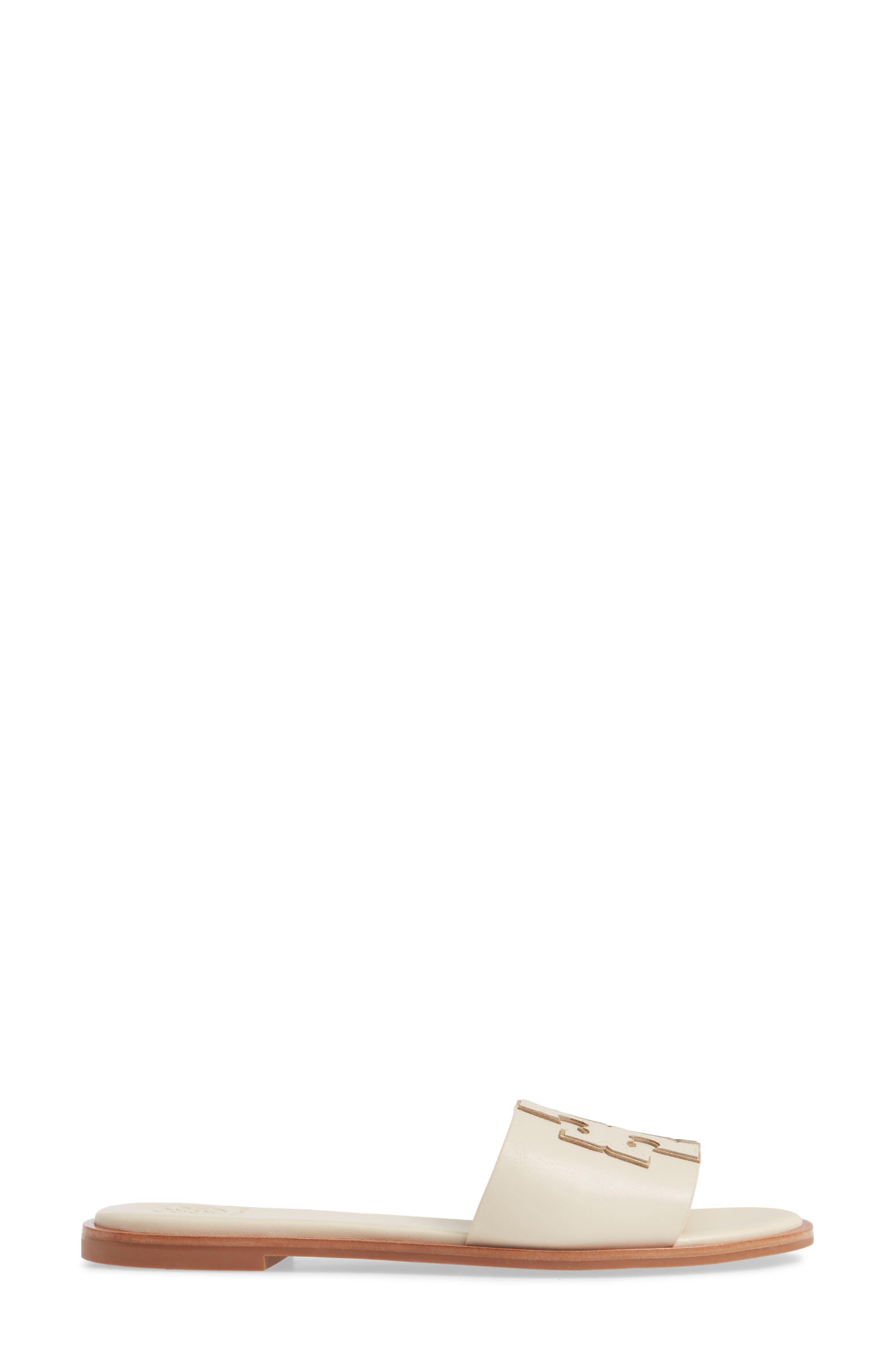 ,                             Ines Slide Sandal,                             Alternate thumbnail 3, color,                             NEW CREAM/ GOLD