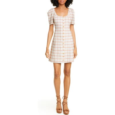 Nicholas Button Front Skater Dress, Ivory