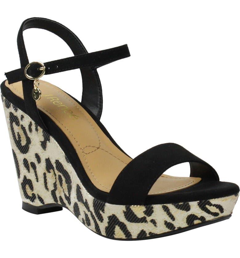 J. RENEÉ J.Reneé Sharbel Wedge Sandal, Main, color, ANIMAL PRINT FABRIC