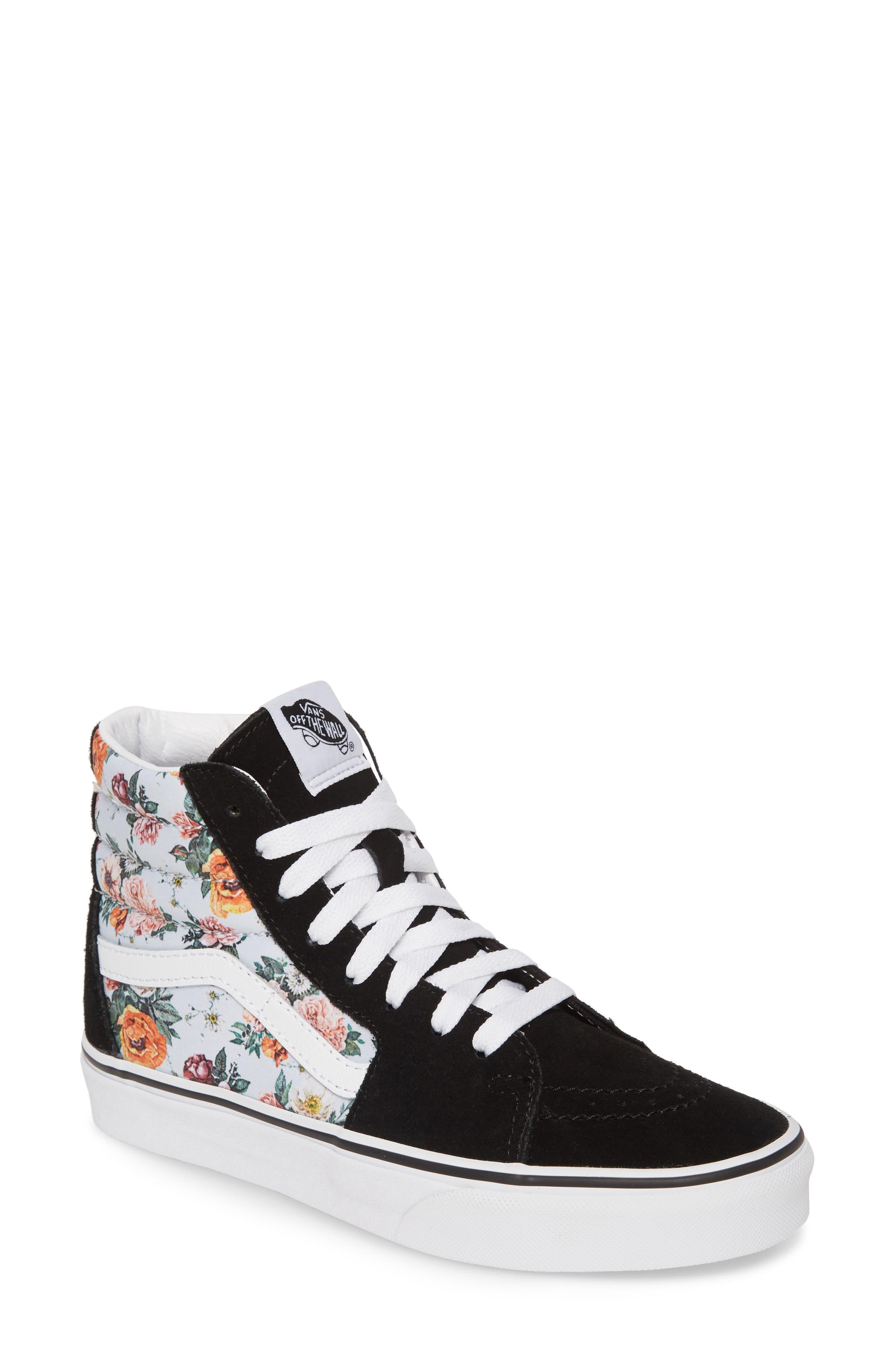 Vans Sk8-Hi Checker Floral High Top Sneaker