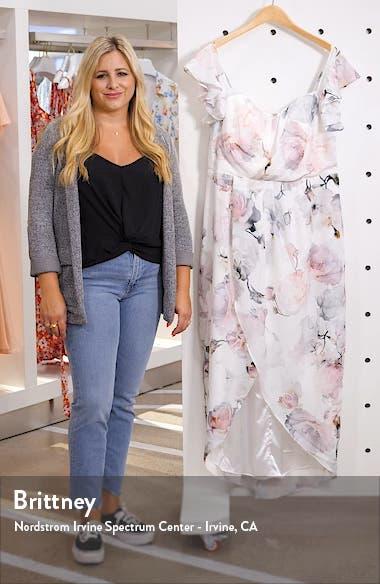 Heartbreaker Floral Off the Shoulder High/Low Dress, sales video thumbnail