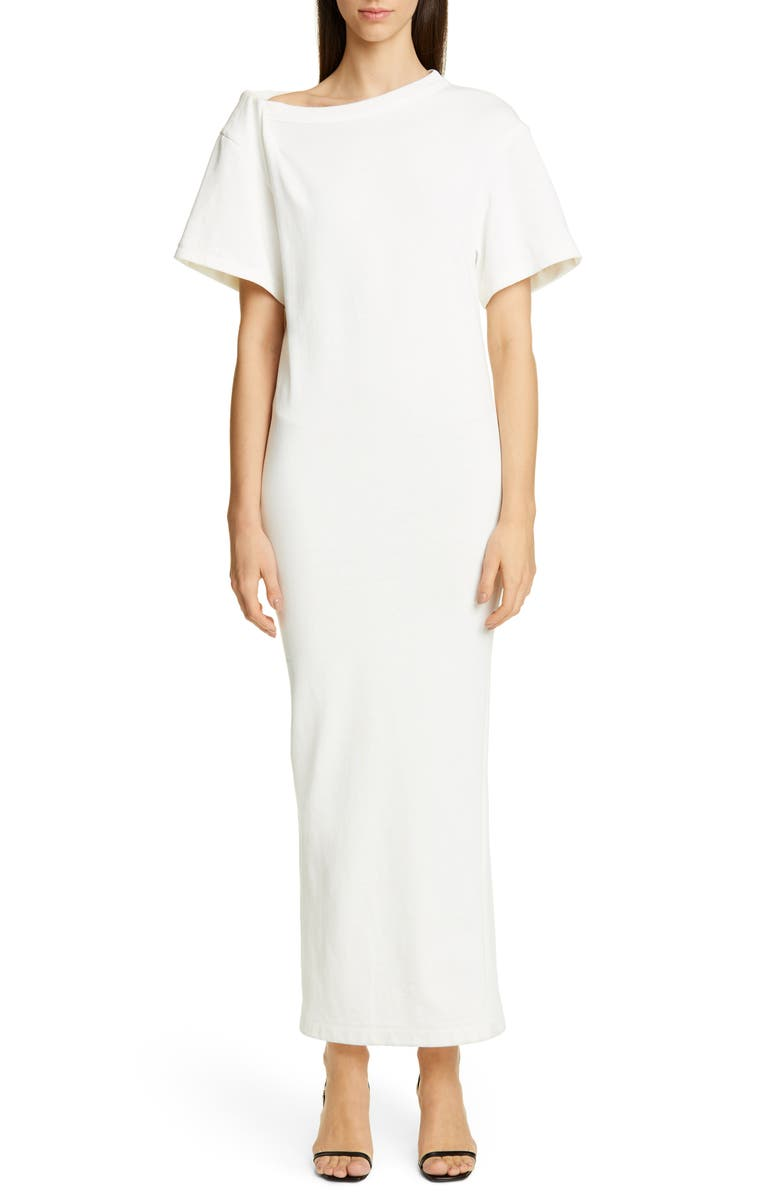 Twisted Shoulder Tricot T Shirt Dress by Alexander Wang