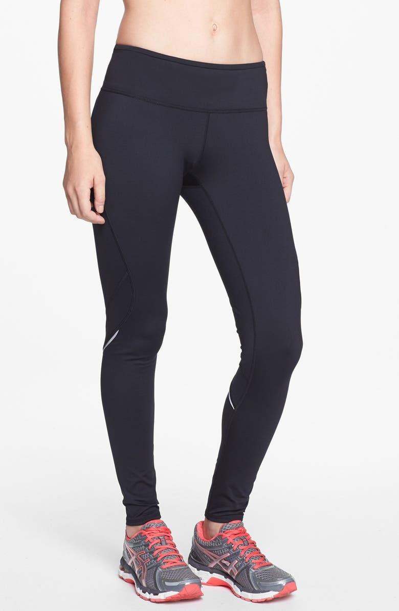 ZELLA 'Power Fleece' Legging, Main, color, 001