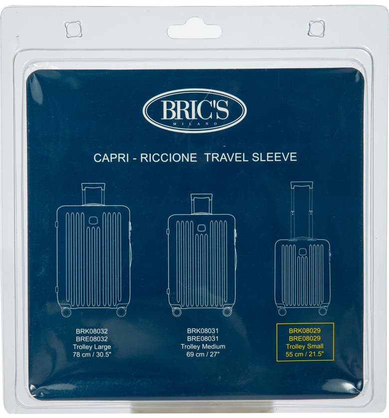 BRIC'S Transparent Custom Cover for 21-Inch Riccione/Capri Spinner Trunks, Main, color, CLEAR