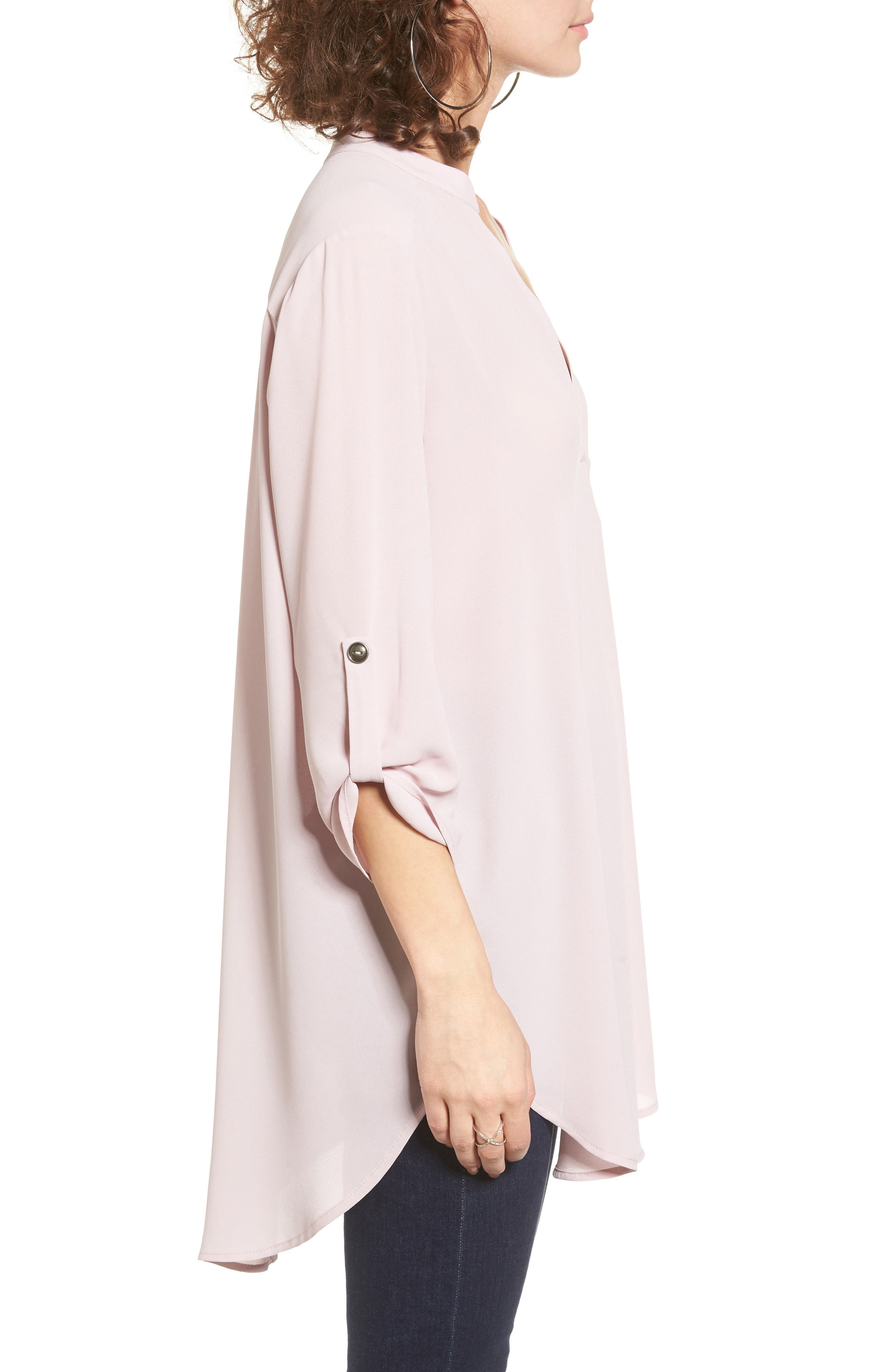 ,                             Perfect Roll Tab Sleeve Tunic,                             Alternate thumbnail 326, color,                             530