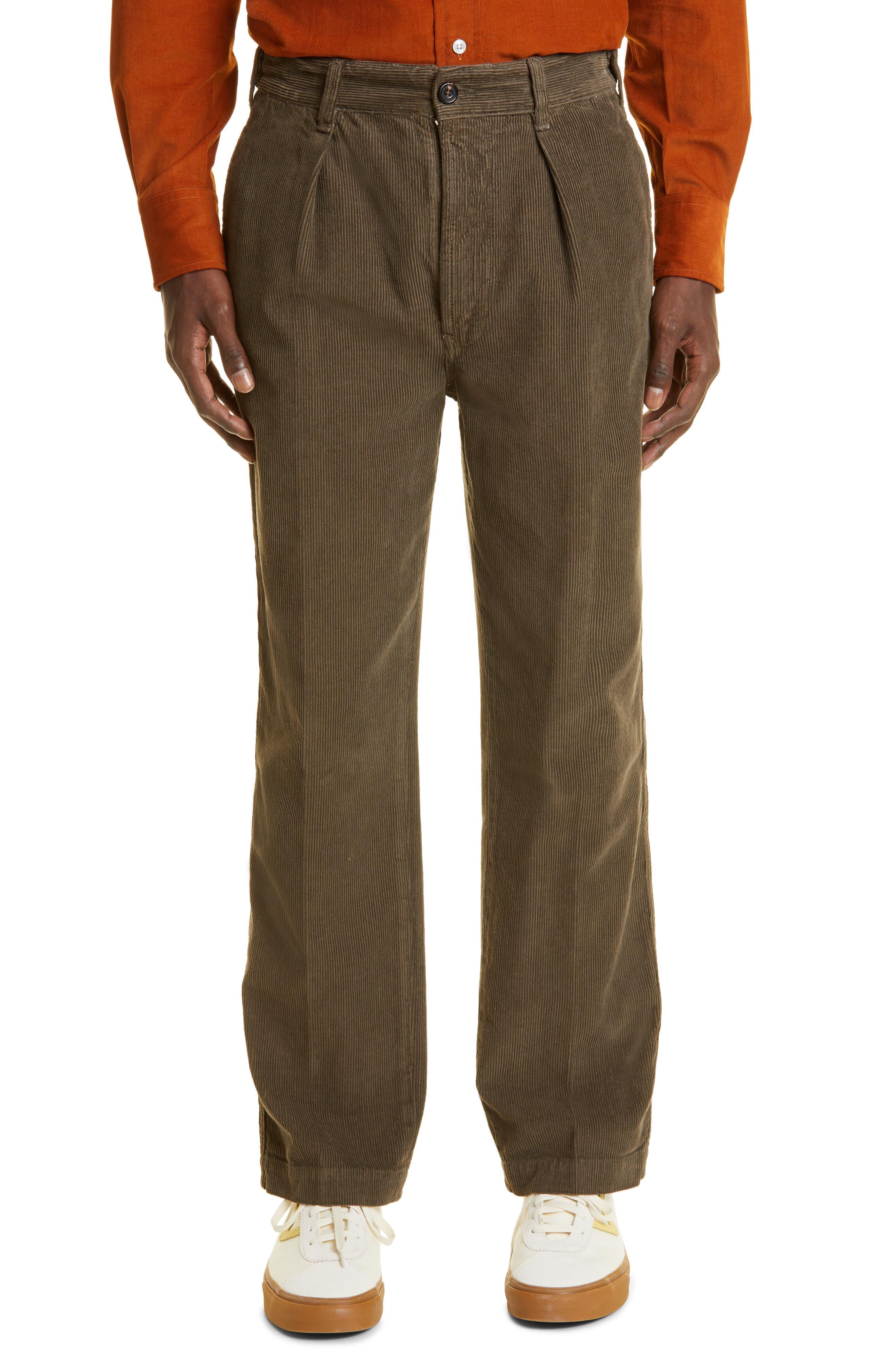 Games Single Pleat Cotton Corduroy Trousers