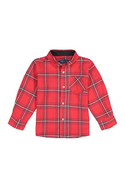 Image of Andy & Evan Button Down Plaid Shirt