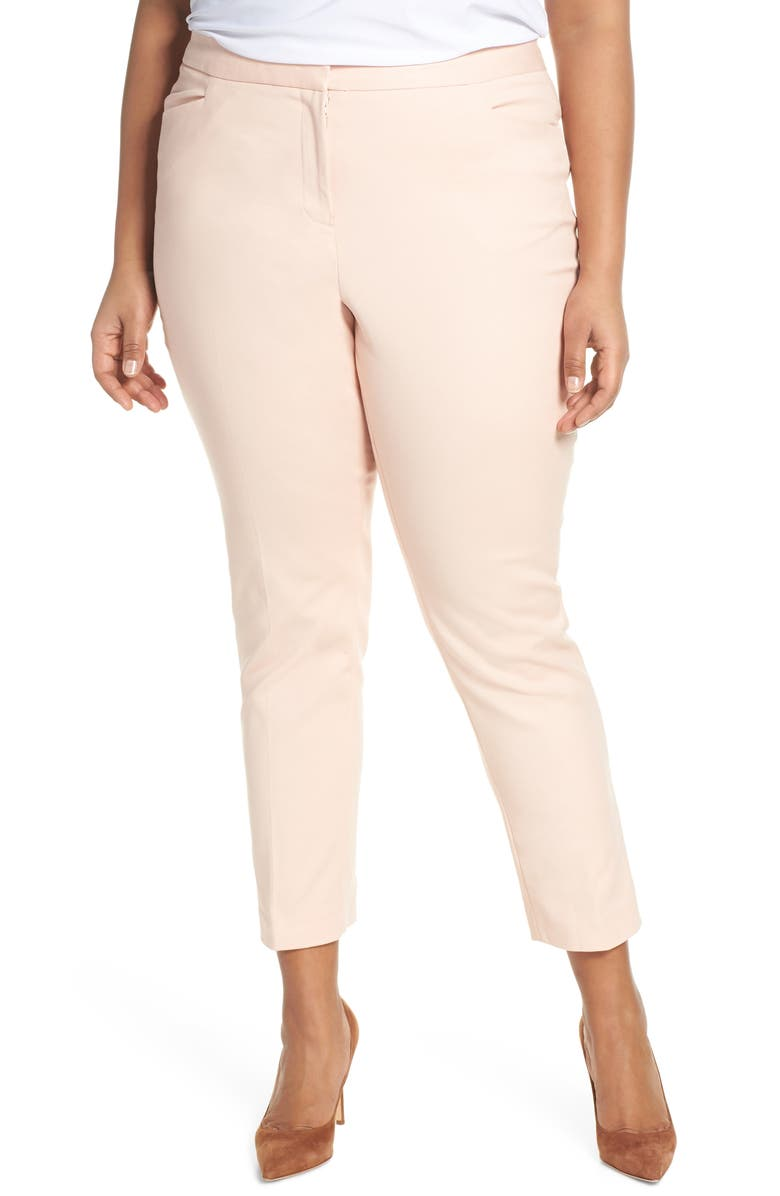 VINCE CAMUTO Stretch Cotton Blend Ankle Trousers, Main, color, 835