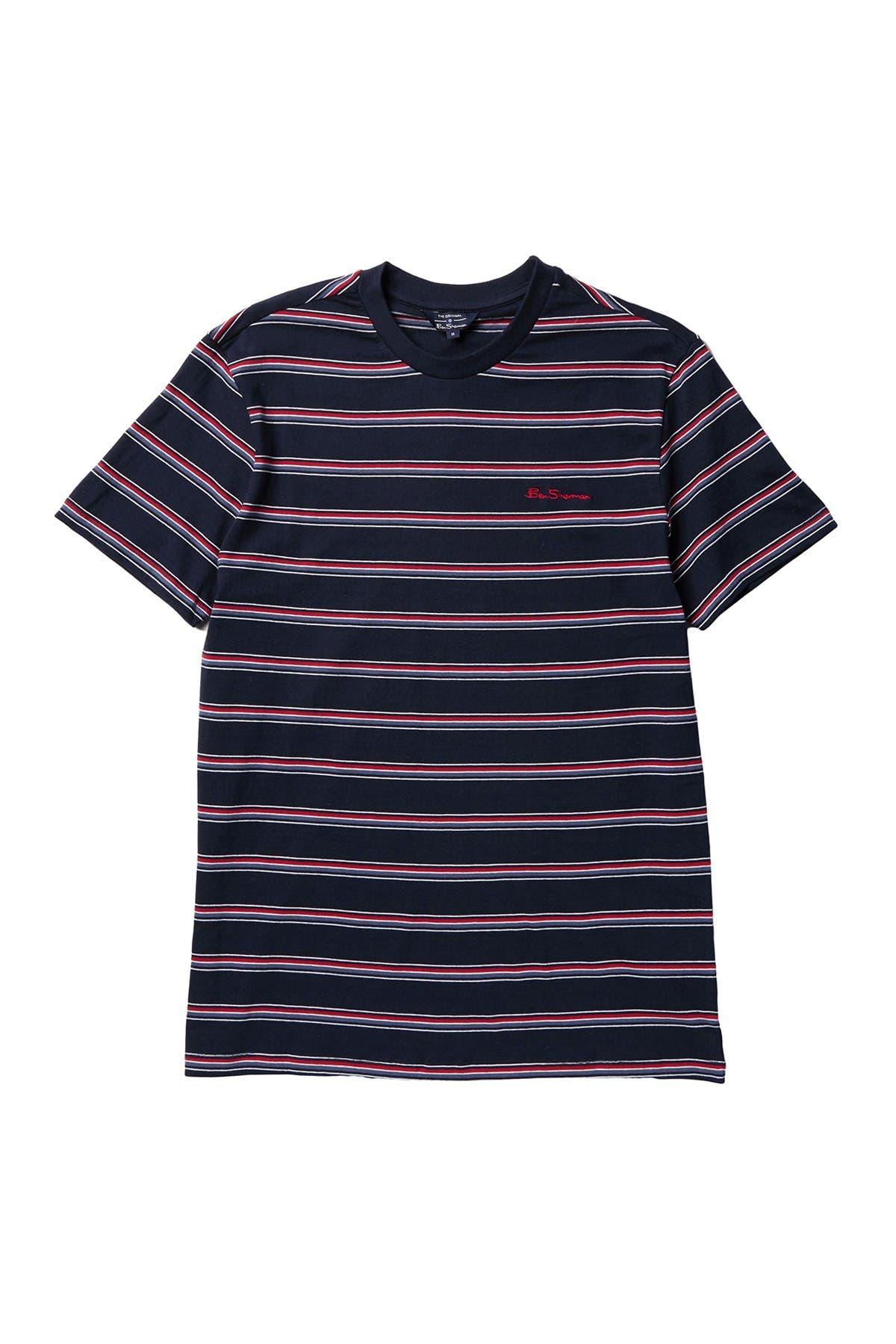 Image of Ben Sherman Short Sleeve Stripe T-Shirt